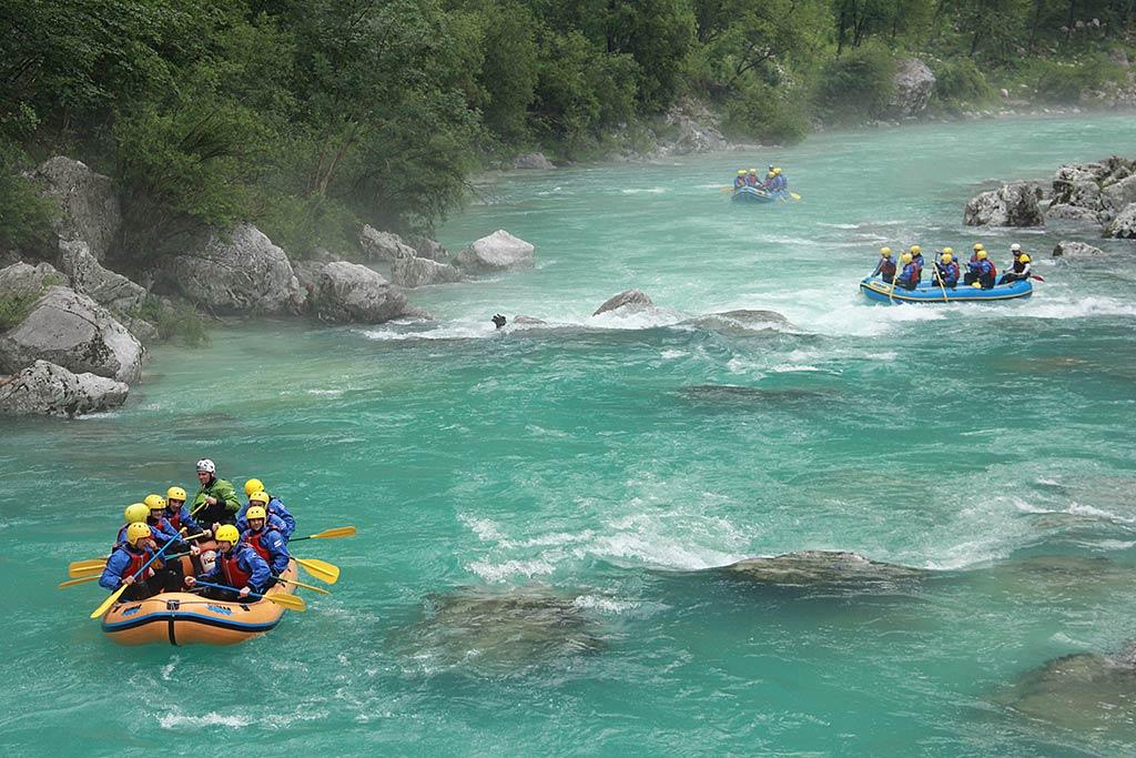 Rafting zgornja Soča, Bovec, Slovenia