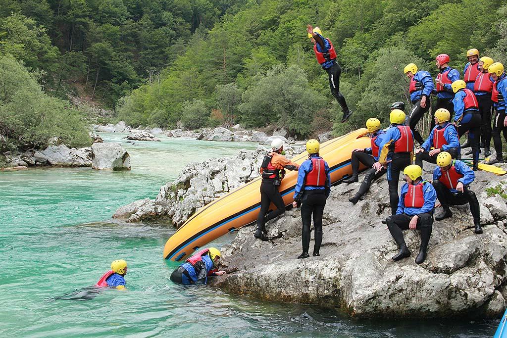 Postanek raftinga Soča, Bovec, Slovenia