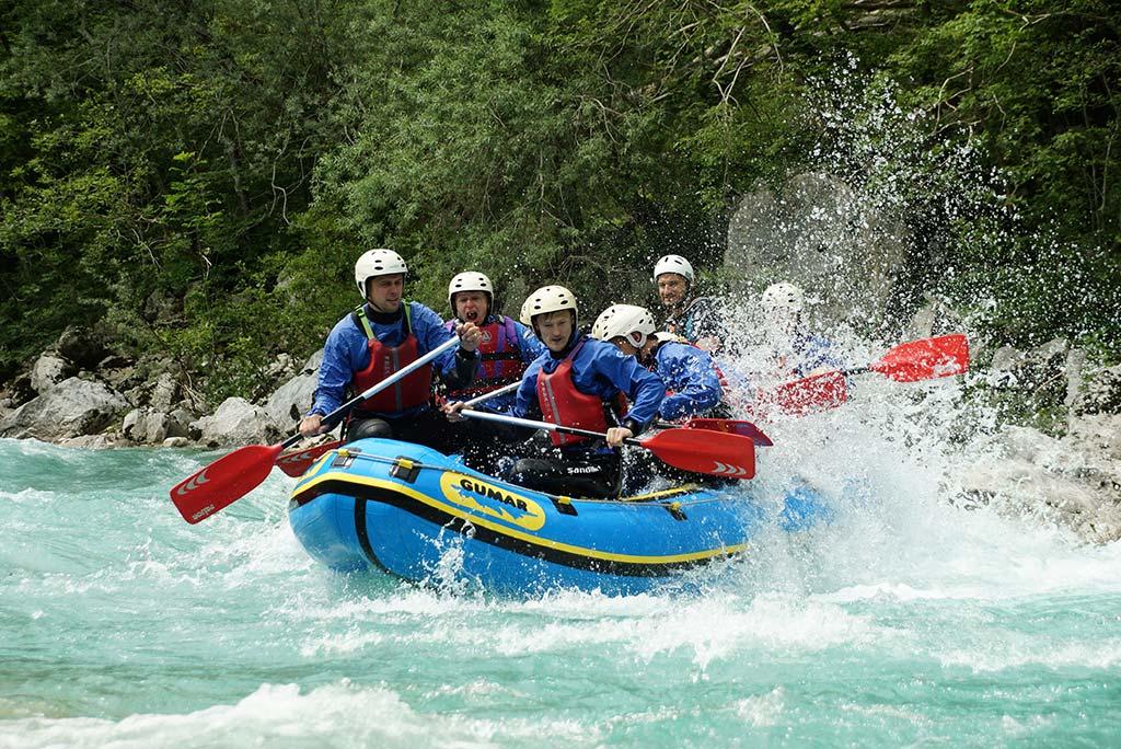 Ta dolga rafting Soča, Bovec, Slovenia