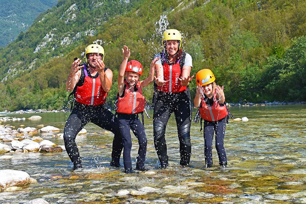 Družina na rafting Soča, Bovec, Slovenia