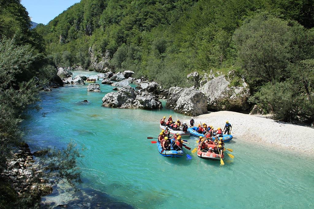 Rafting po smaragdni Soči, Bovec, Slovenia